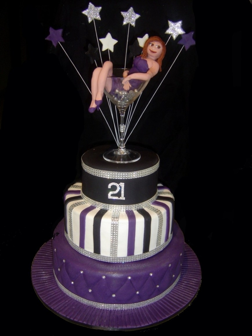 Bling Birthday Cakes Bling Martini Glass 21st Birthday Cake Cakecentral