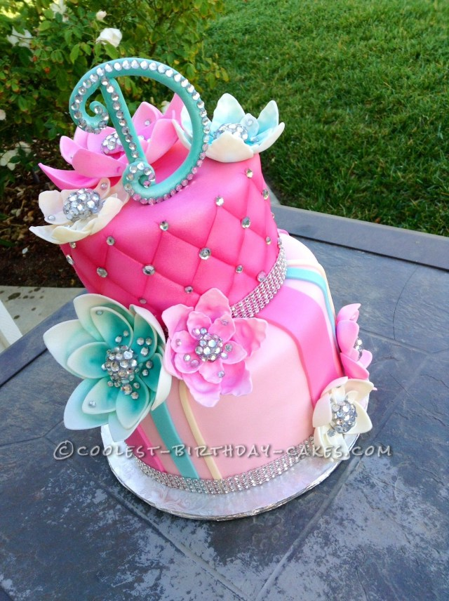 Bling Birthday Cakes Delicious Homemade Beautiful Birthday Cake With Bling Cakes Cake