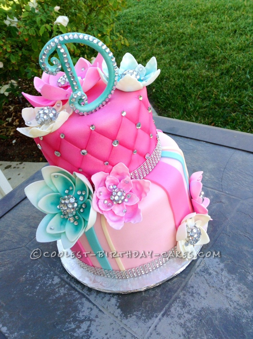 Bling Birthday Cakes Delicious Homemade Beautiful Cake With