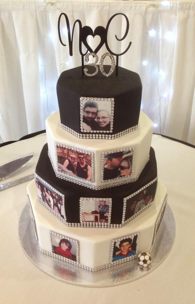Bling Birthday Cakes Nadas Cakes Black And White Bling Weddingbirthday Cake
