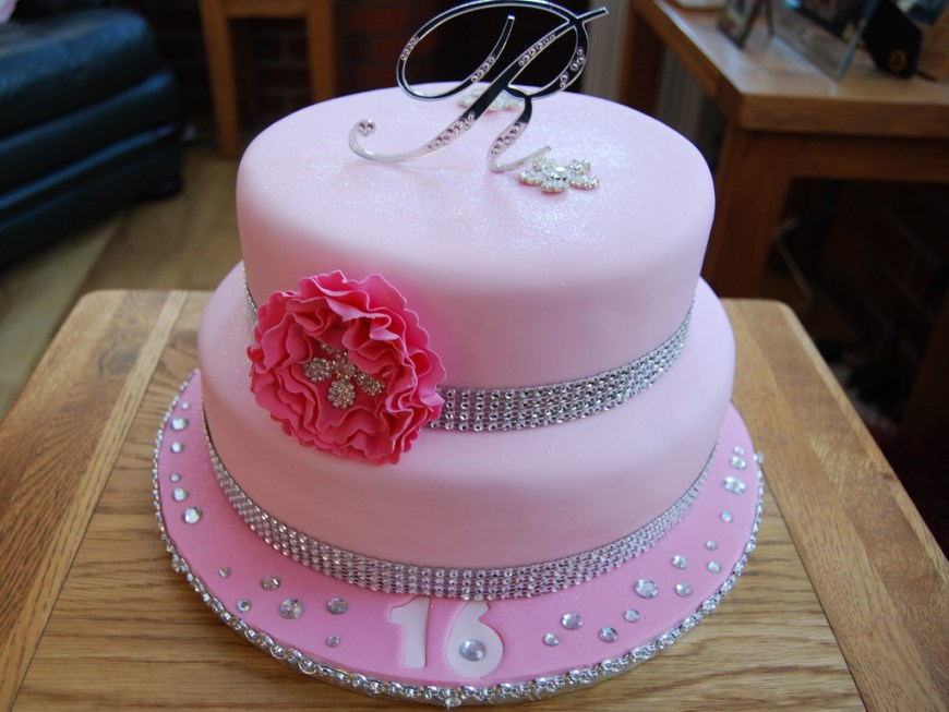 Bling Birthday Cakes Ranee 16th Birthday Cake A Pink Bling Cake For Ranee Sweet Flickr