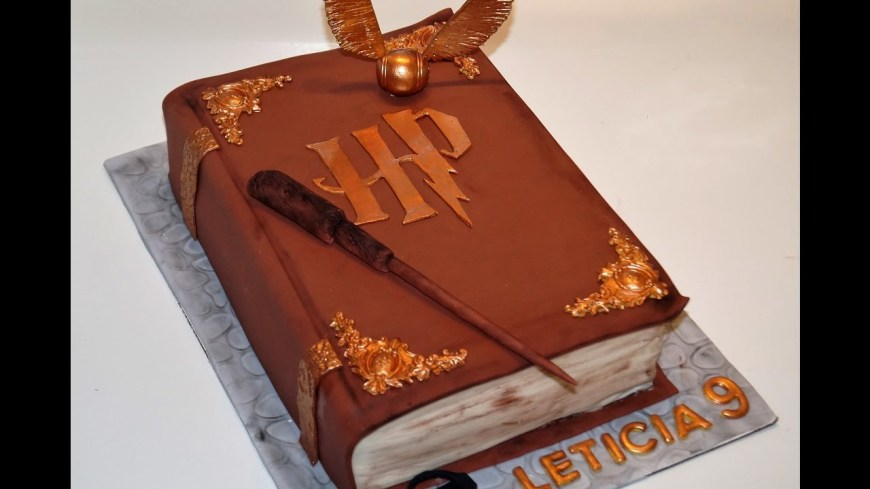 Book Birthday Cake Cake Decorating Tutorials How To Make A 3d Harry Potter Book Of
