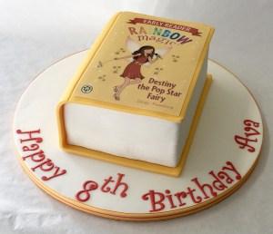 Book Birthday Cake Destiny The Pop Star Rainbow Fairy Book Cake Childrens Birthday