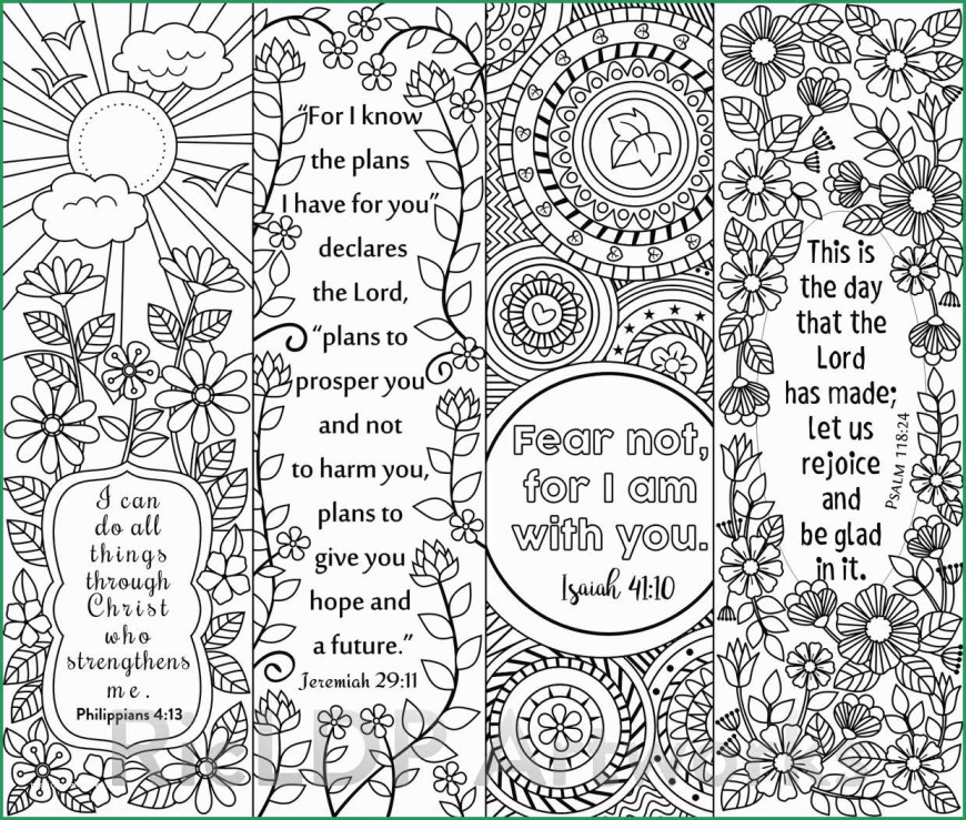 Bookmark Coloring Pages Free Printable Bible Coloring Pages With Scriptures Unique 8 Bible
