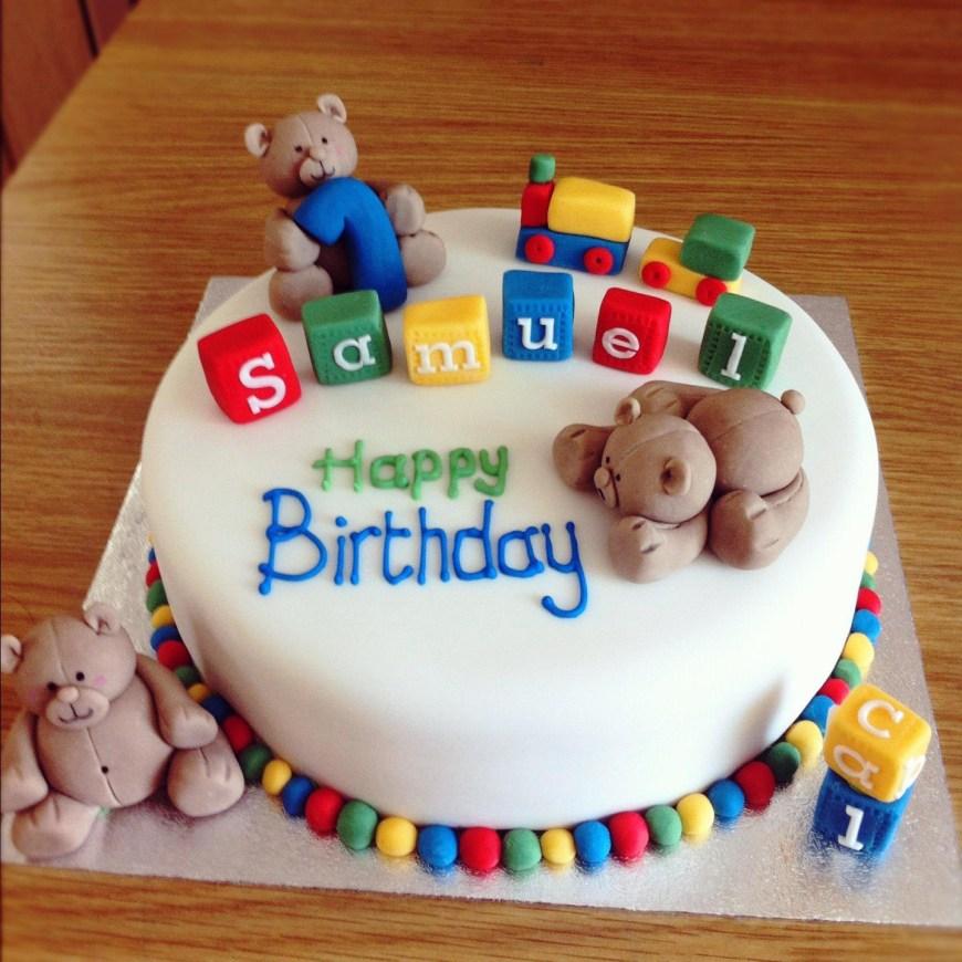 Boys Birthday Cake First Birthday Cake For A Ba Boy Protoblogr Design 1st