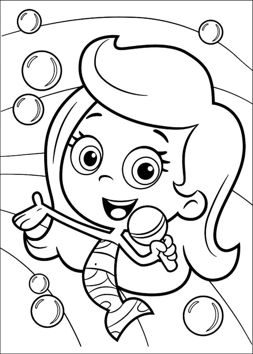 Bubble Guppies Coloring Pages Bubble Guppies Coloring Page Colouring Online Printable Free Carmi