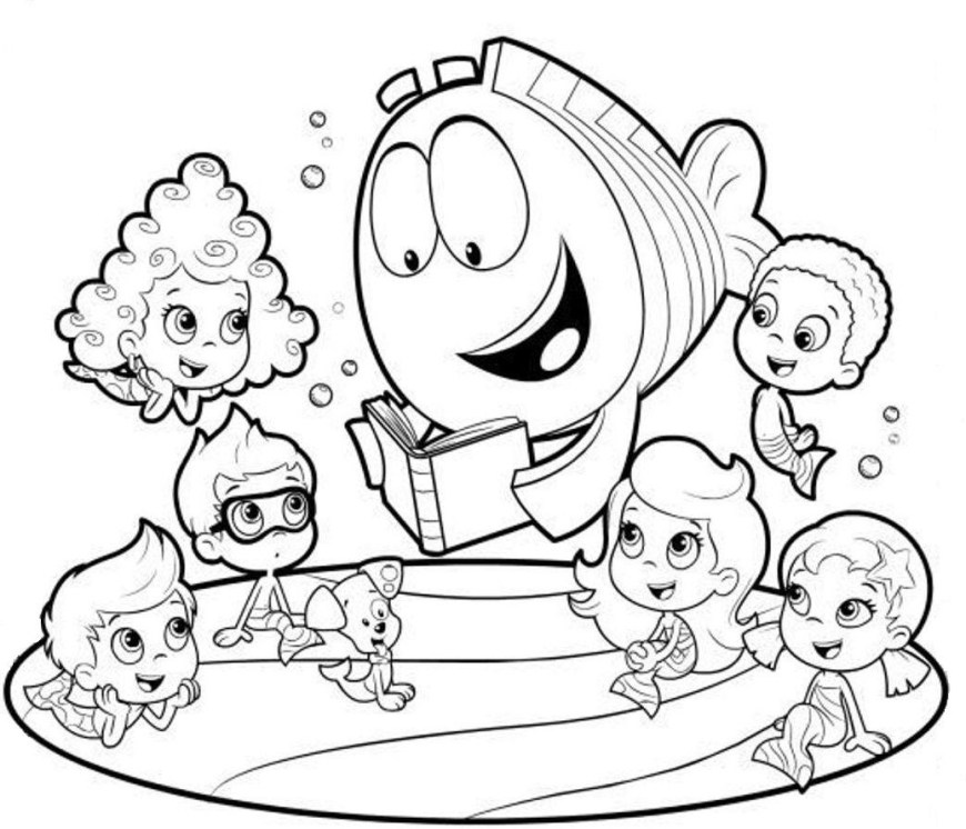 Bubble Guppies Coloring Pages Bubble Guppies Coloring Pages Printable Coloring Page For Kids