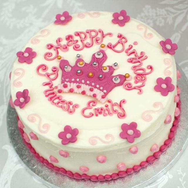 Buttercream Birthday Cakes Princess Cakegirls Birthday Cakebuttercream Cakeedinburghglasgow