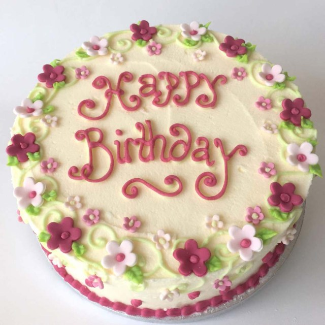 Buttercream Birthday Cakes Rose Pinks Buttercream Cake Birthdays