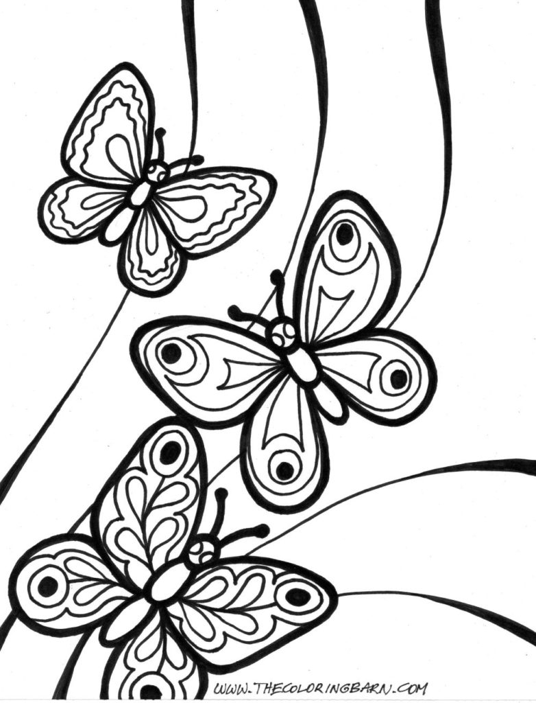 25+ Amazing Photo of Butterflies Coloring Pages - davemelillo.com