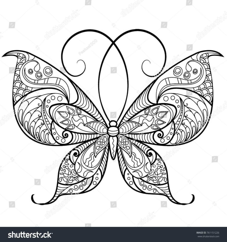 Butterflies Coloring Pages Butterfly Coloring Pages Free Printables Momjunction Colouring In
