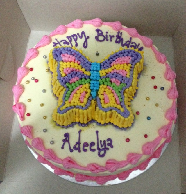 Butterfly Birthday Cake Adeelyas Butterfly Birthday Cake Buttercup And Friends