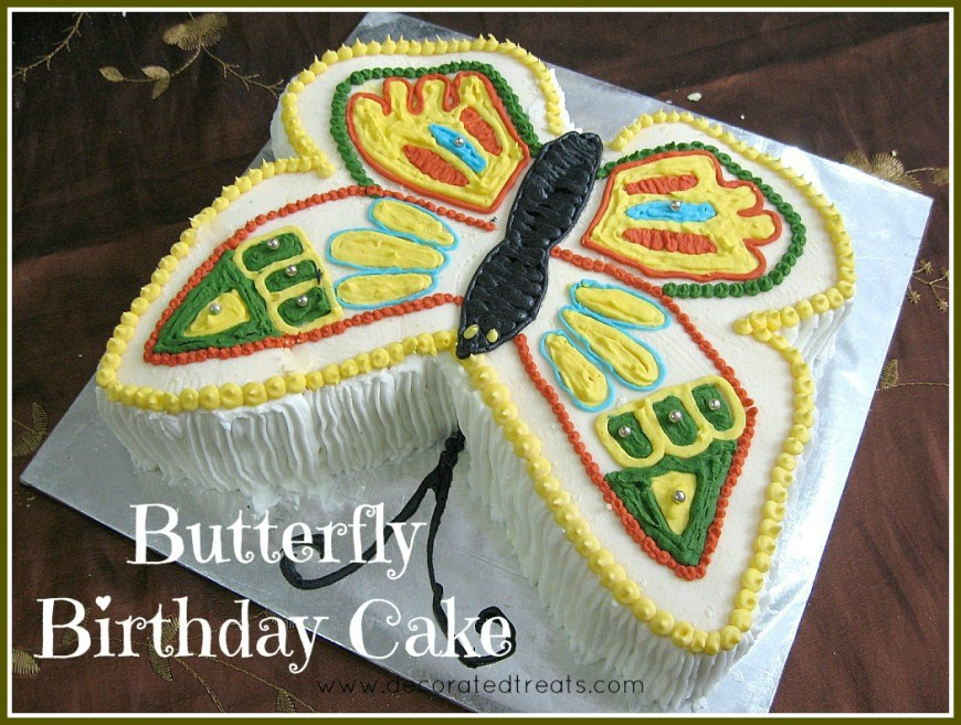Butterfly Birthday Cake Butterfly Birthday Cake