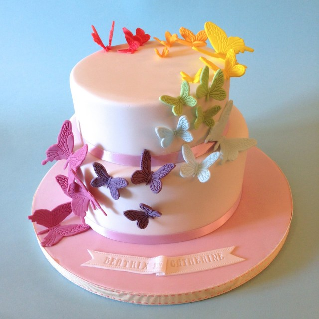 Butterfly Birthday Cake Rainbow Butterflies Birthday Cake A Simple And Pretty Desi Flickr