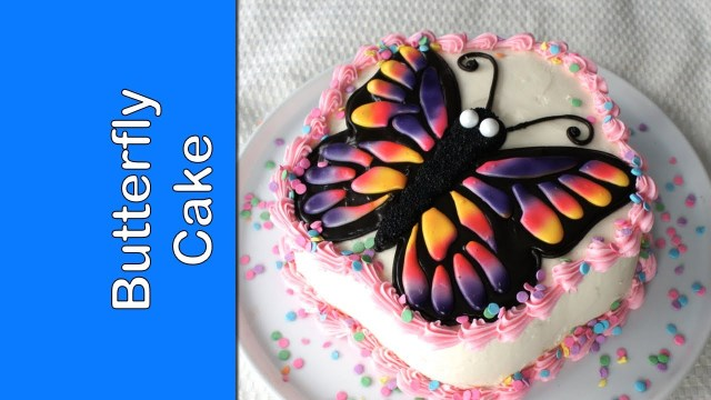 Butterfly Birthday Cakes How To Make Butterfly Cake Easy Birthday Cake Project Youtube