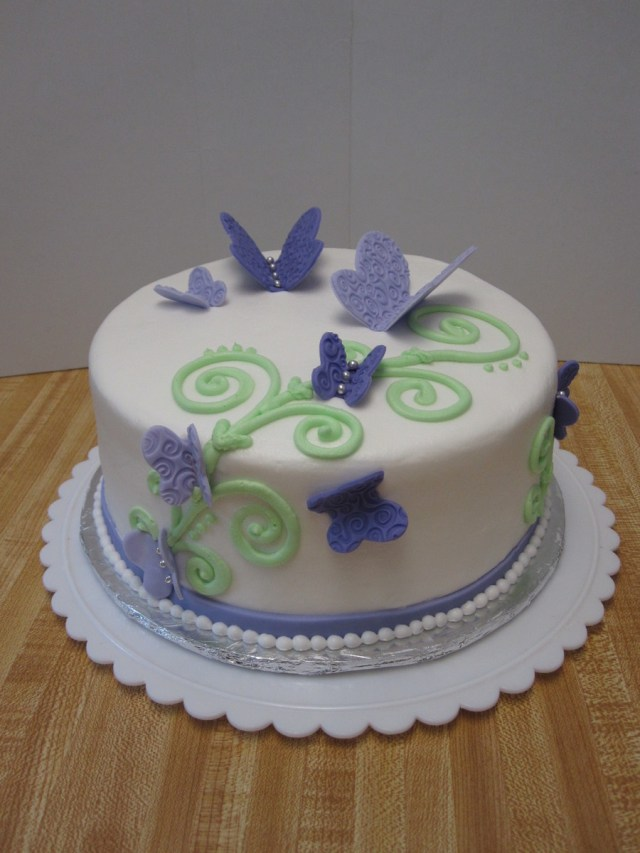 Butterfly Birthday Cakes Purple Butterfly Birthday Cake Cakecentral