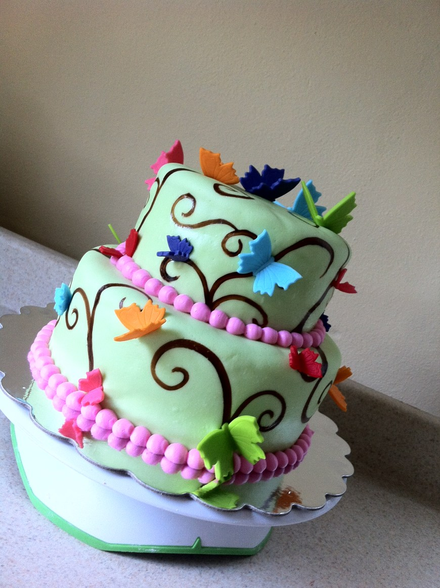 Butterfly Birthday Cakes Rainbow Butterfly Birthday Cake Lolos Cakes Sweets