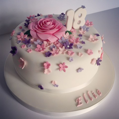 Cakes For Birthdays Pretty 18th Birthday Cake For Pretty Girl Design Elina Prawito