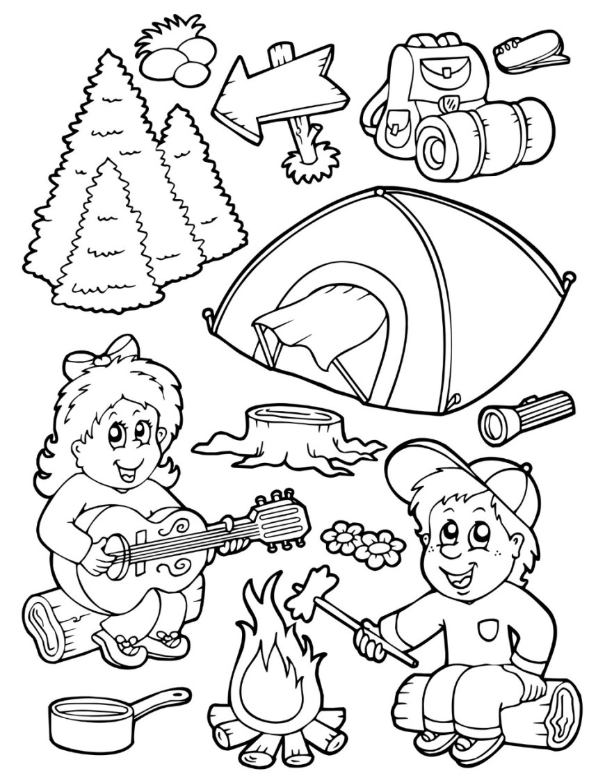 Camping Coloring Pages Camping Coloring Pages Best Coloring Pages For Kids