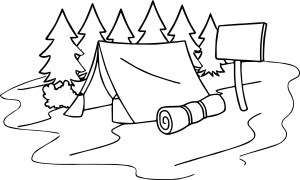 Camping Coloring Pages Summer Camp Tent Sleeping Bag Camping Coloring Page Wecoloringpage