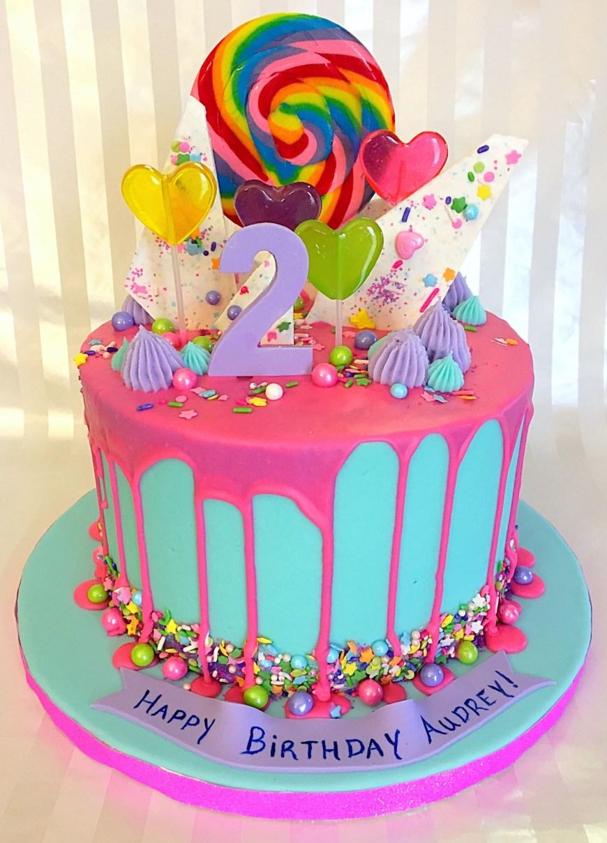 Candy Birthday Cake Candy Drip Cake Sweet Lias Cakes Treats Pinterest Cake
