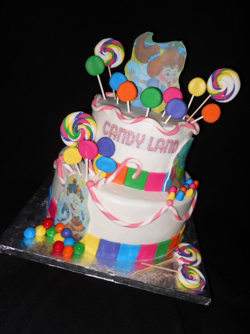 Candy Birthday Cake Candy Land Birthday Cake Cakecentral