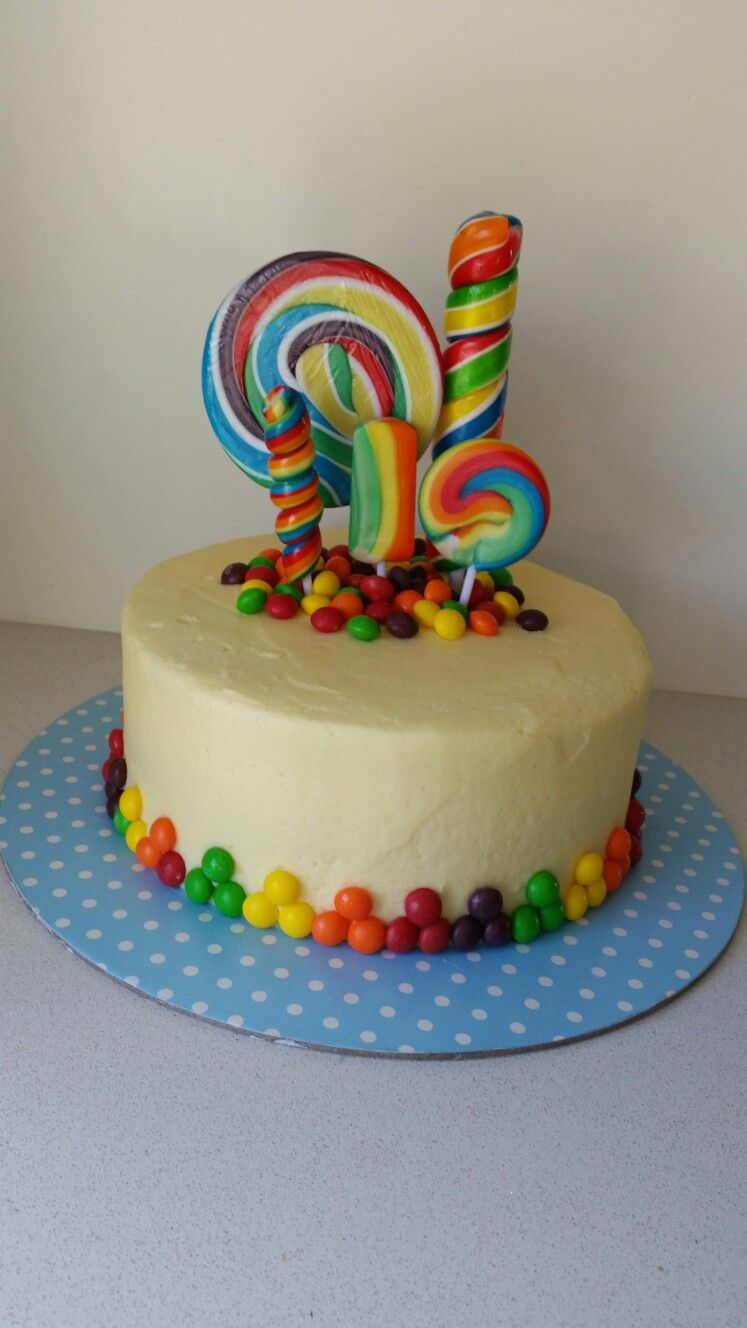 Candy Birthday Cake Lolly Pop Candy Cake Cake Decorating Pinterest Cake Birthday