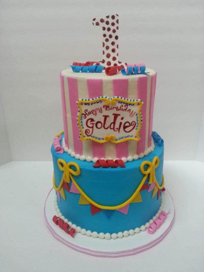 Carnival Birthday Cakes 1st Birthday Girlie Carnival Cake Cakecentral