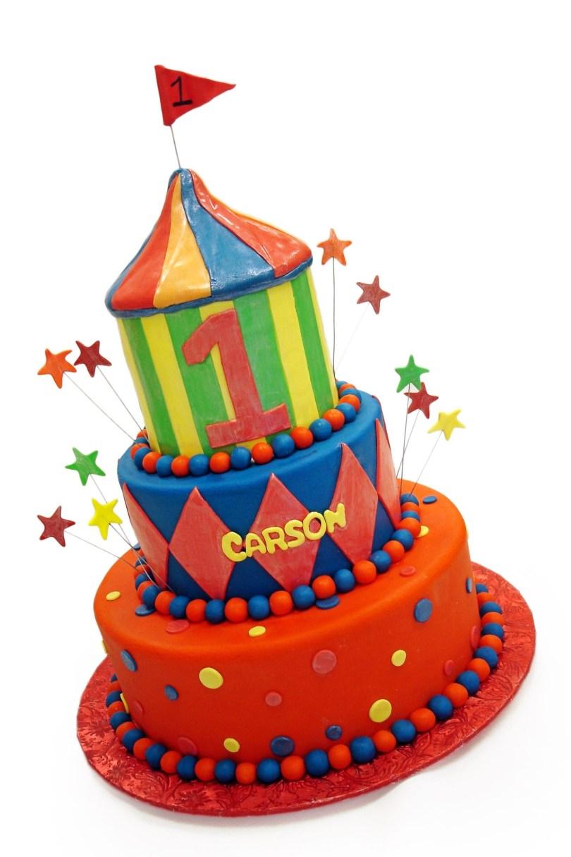 Carnival Birthday Cakes Carnival First Birthday Cake Birthday Cakes All Cake Pinterest