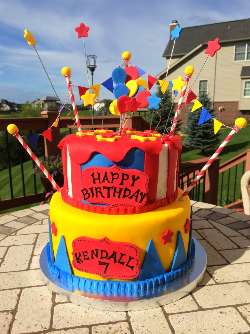 Carnival Birthday Cakes Christis Cakes Kendalls Carnival Birthday Cake