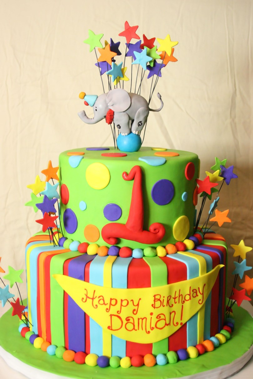 Carnival Birthday Cakes Circus Birthday Cake I Like This One But Instead Put Derek And 1
