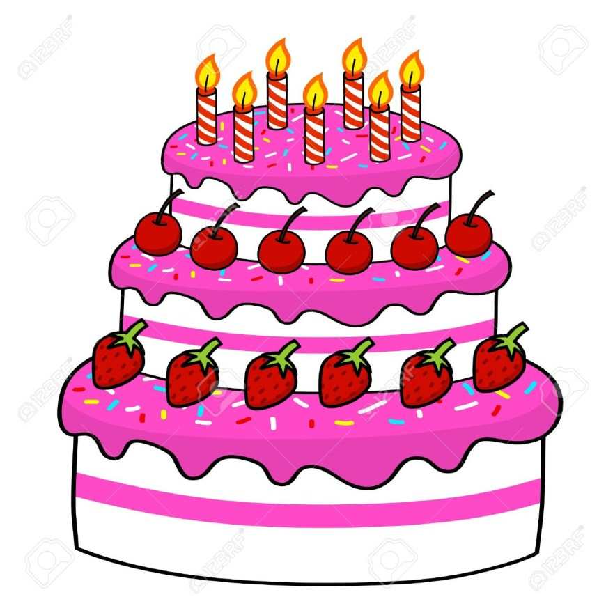 Cartoon Birthday Cake Cartoon Cake Hand Drawing Vector Royalty Free Cliparts Vectors And
