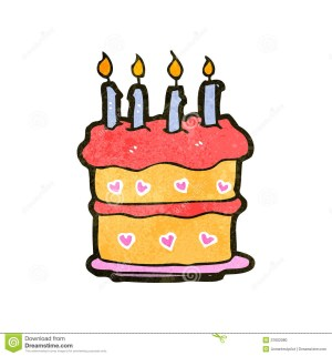Cartoon Birthday Cake Retro Cartoon Birthday Cake Stock Illustration Illustration Of