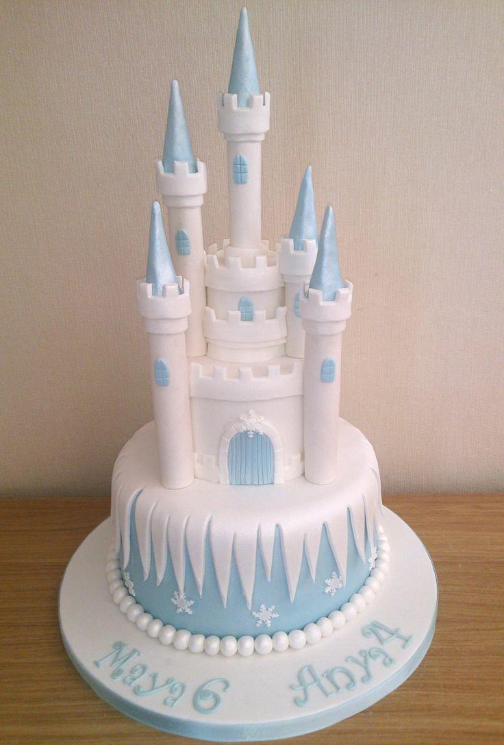 Castle Birthday Cake Frozen Castle Cake Tutorial Frozen Castle Cake Tutorial Desserts