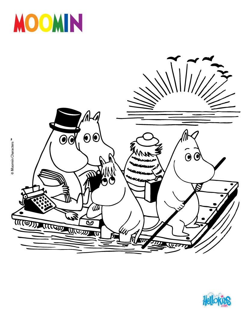 Character Coloring Pages Moomin Coloring Pages 8 Free Printables Of Cartoon Characters To