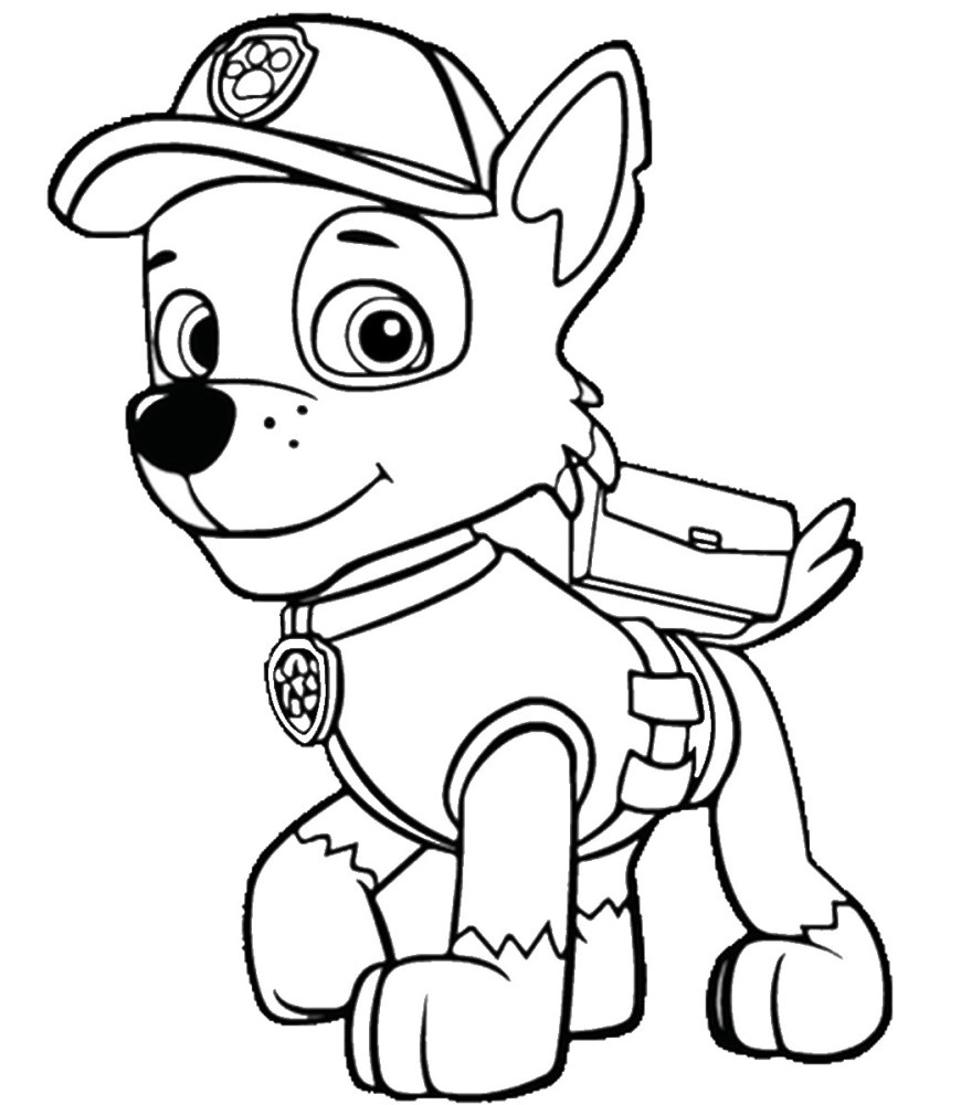Chase Coloring Page Chase Paw Patrol Coloring Pages Telematik Institut