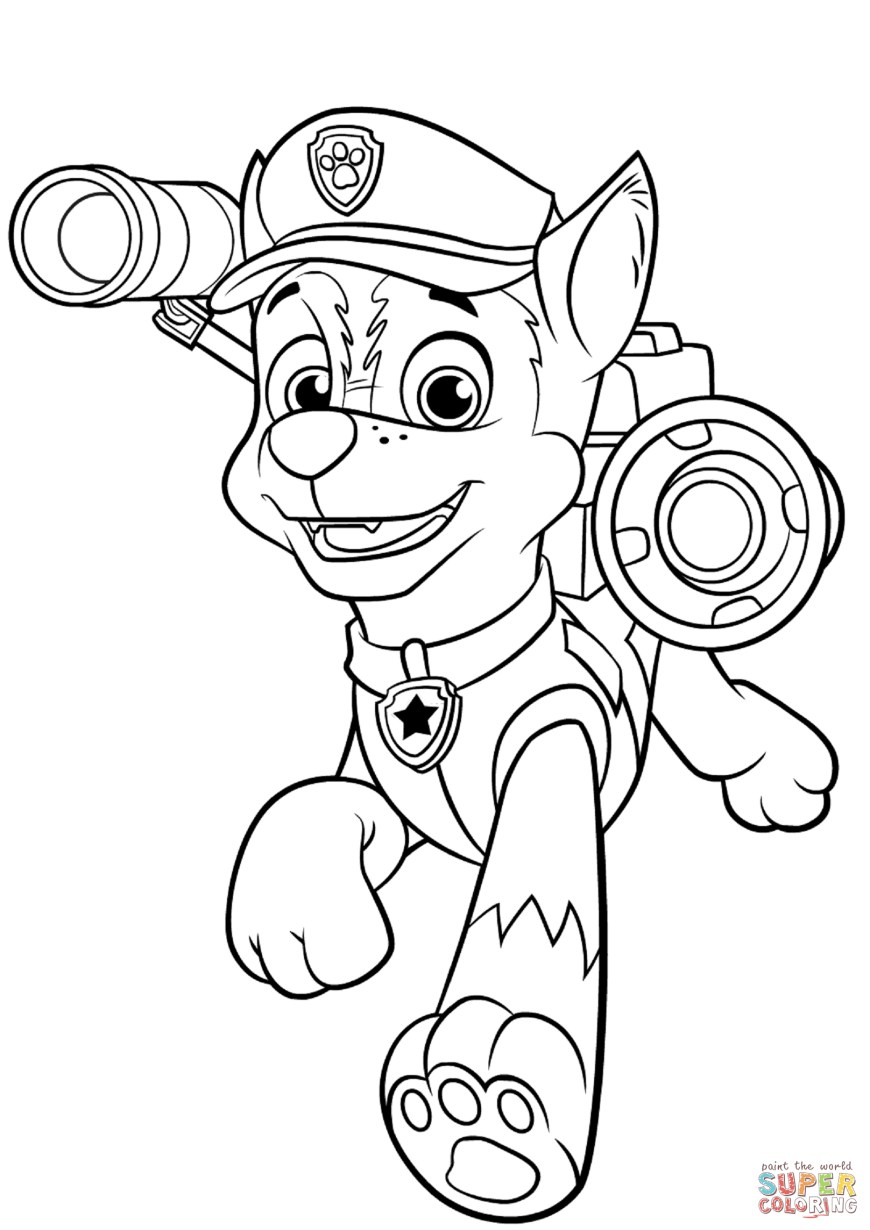 Chase Coloring Page Chase With Police Pup Pack Coloring Page Free Printable Coloring Pages