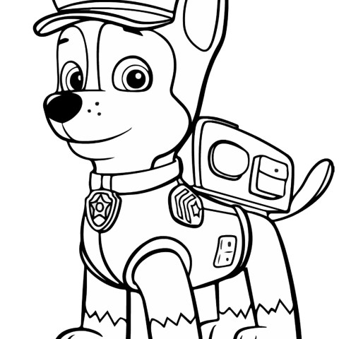 Chase Coloring Page Paw Patrol Chase Coloring Page Free Printable Coloring Pages