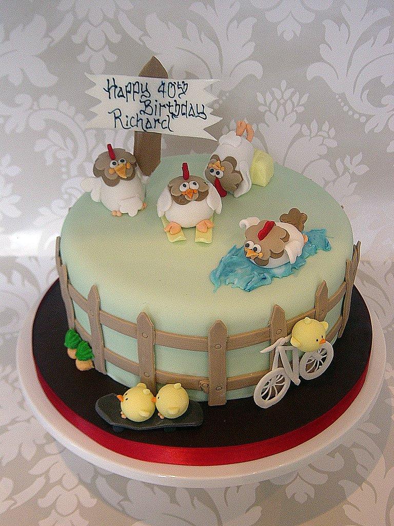 Chicken Birthday Cake Chicken Birthday Cake A Multi Themed Chicken Birthday Cake Flickr