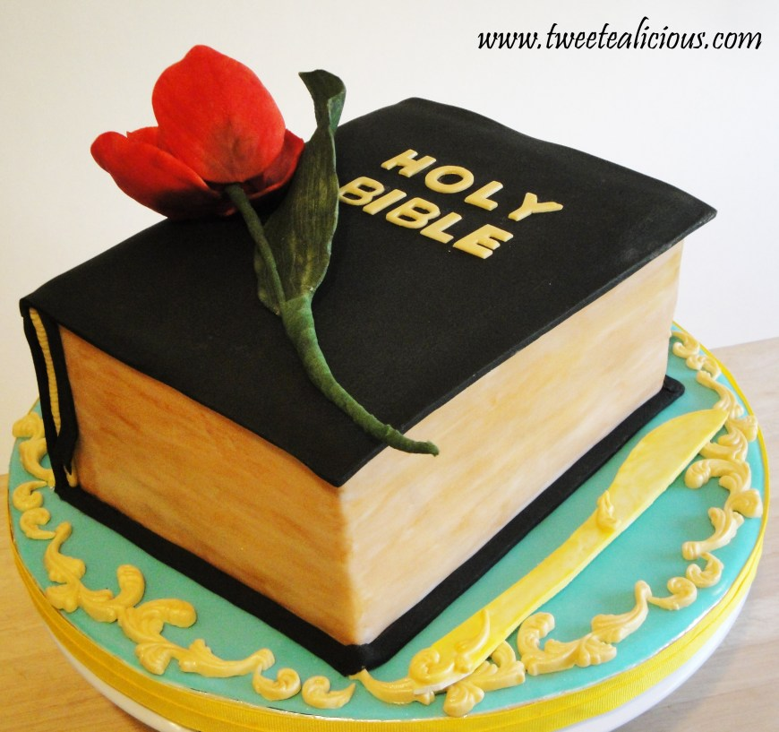 Christian Birthday Cakes Bible With Rose Of Sharon Cake Twee Tea Licious