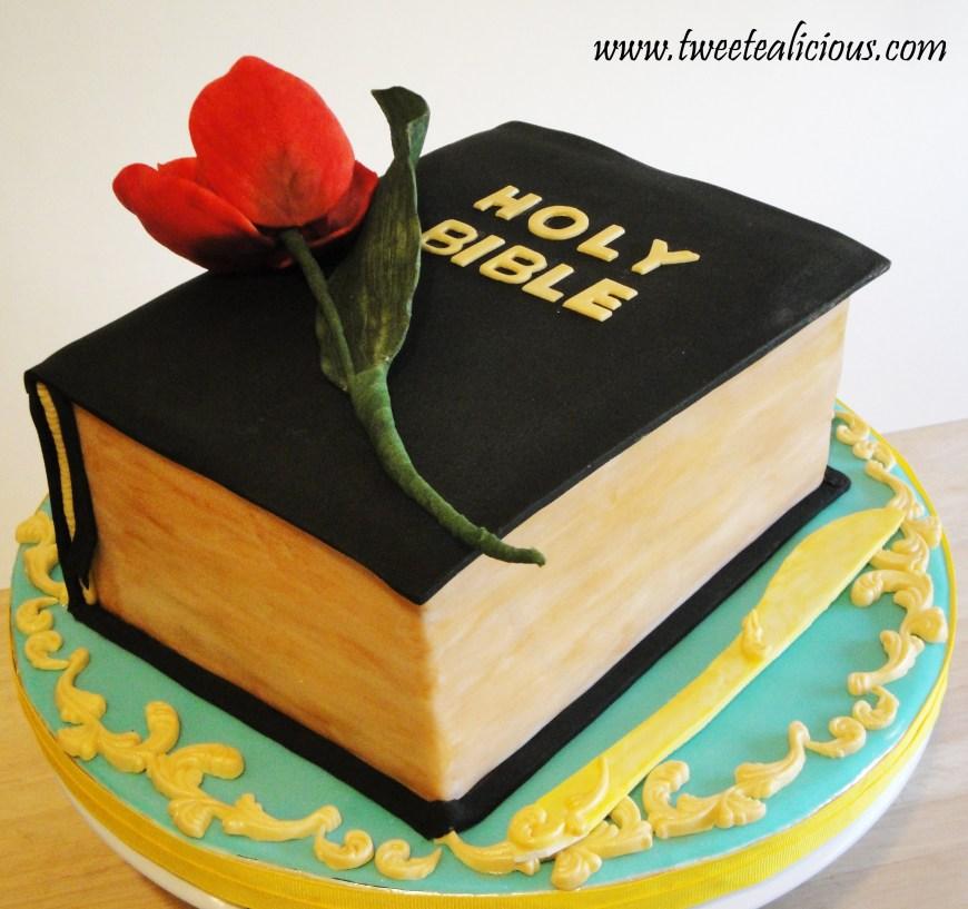 Christian Birthday Cakes Bible With Rose Of Sharon Cake Twee Tea Licious