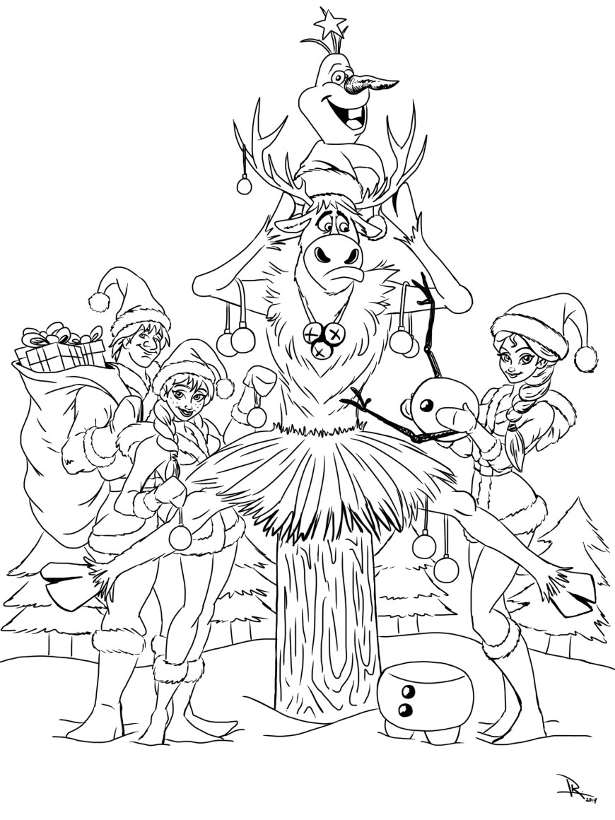 Christmas Coloring Pages Frozen Christmas Coloring Page Kristen Hewitt
