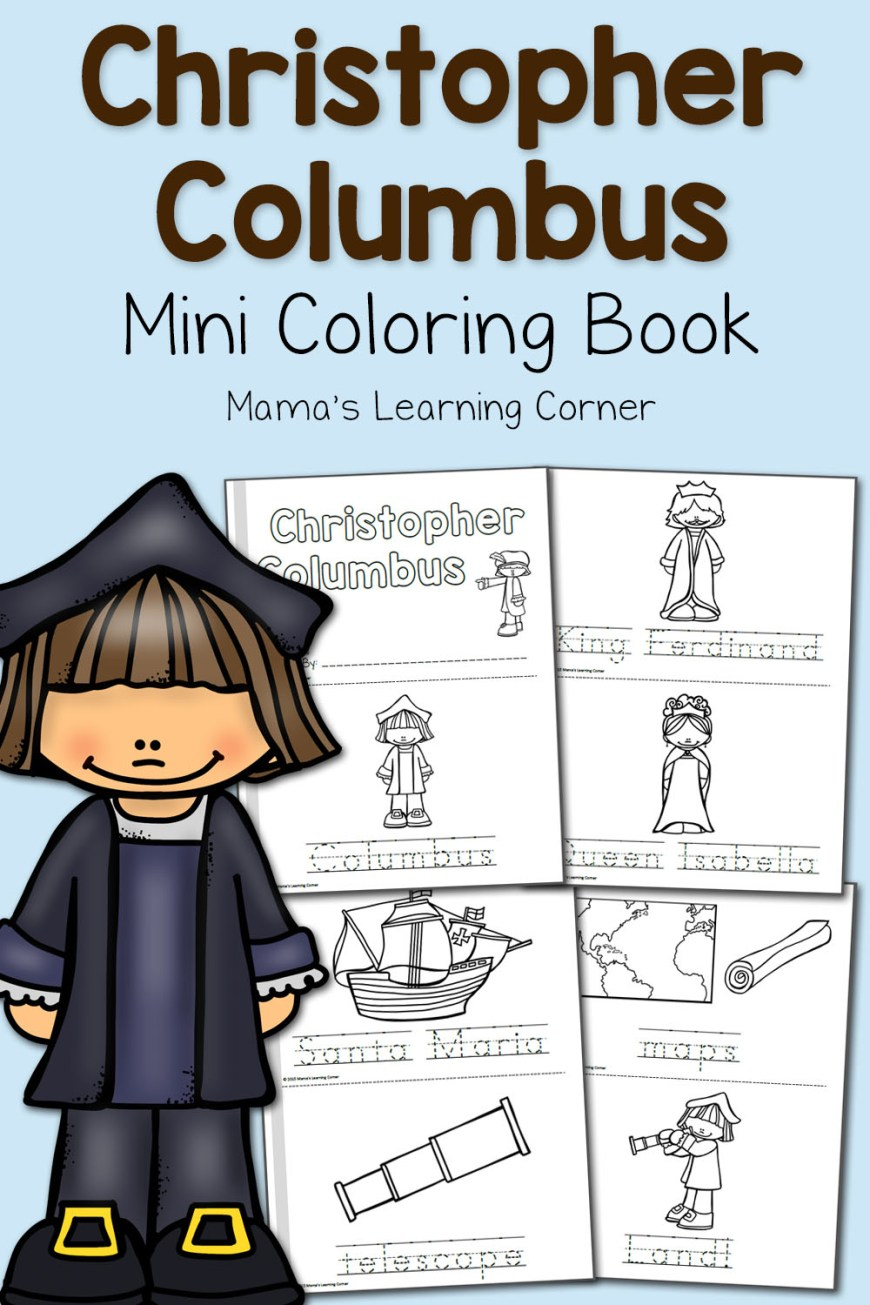 Christopher Columbus Coloring Page Christopher Columbus Coloring Pages Mamas Learning Corner