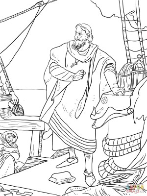 Christopher Columbus Coloring Page Christopher Columbus On The Santa ...