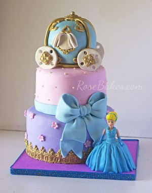 Cinderella Birthday Cake A Cinderella Carriage Cake For A Very Special Little Girl Rose Bakes