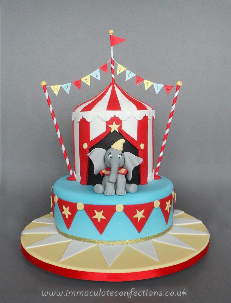 Circus Birthday Cakes Dumbo Circus Christening Cake Cakes Natalie Porter To Do