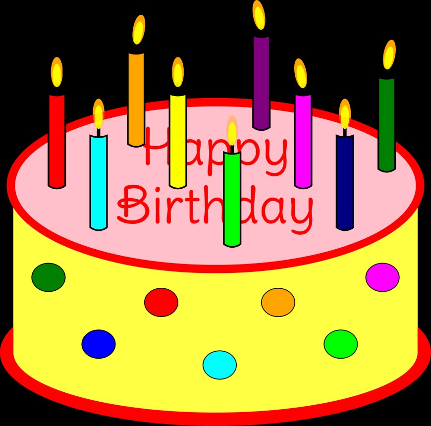 Clip Art Birthday Cake Clipart Flickering Candle