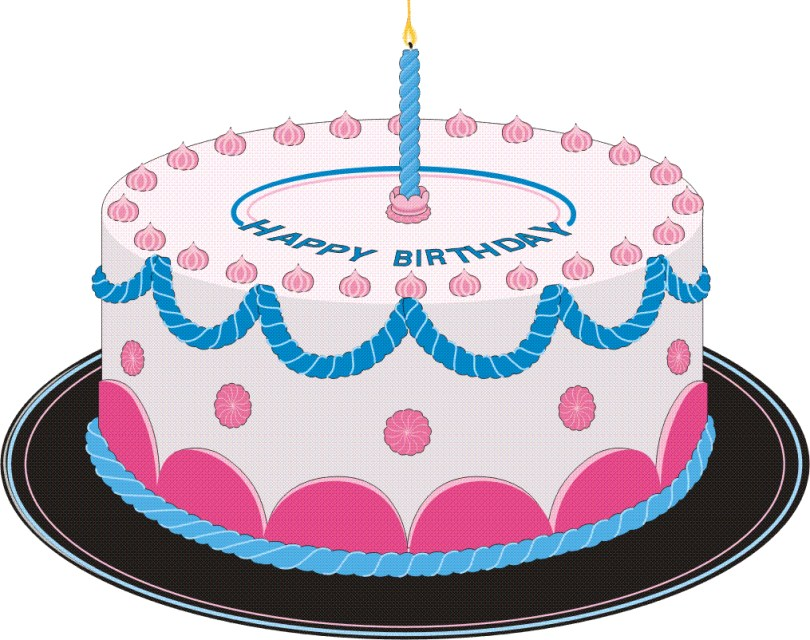 Clip Art Birthday Cake Free Cakes Images With Candles Download