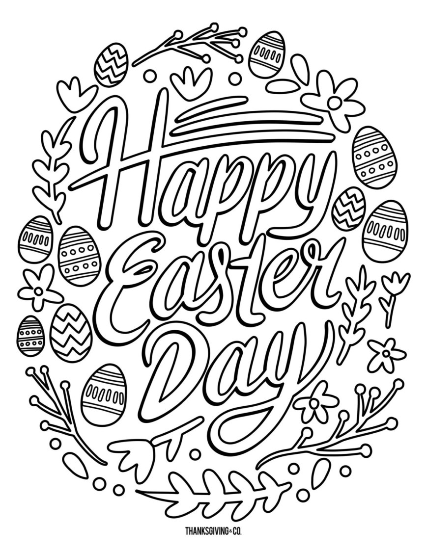 Coloring Pages For Adults Printable 5 Free Printable Easter Coloring Pages For Adults That Will Relieve