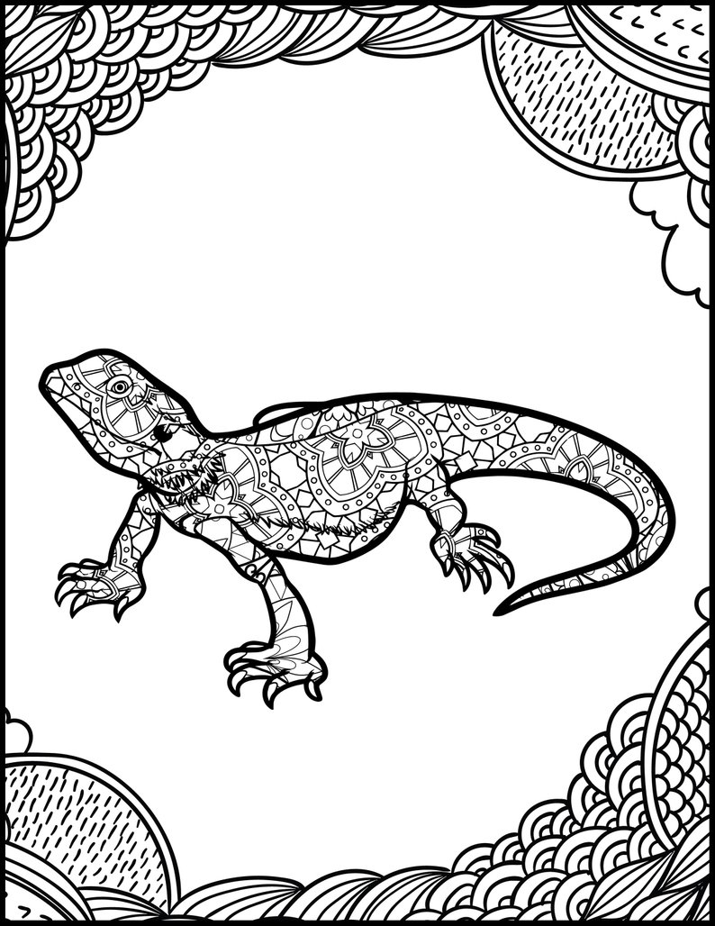 Coloring Pages For Adults Printable Printable Coloring Page Adult Coloring Page Animal Etsy